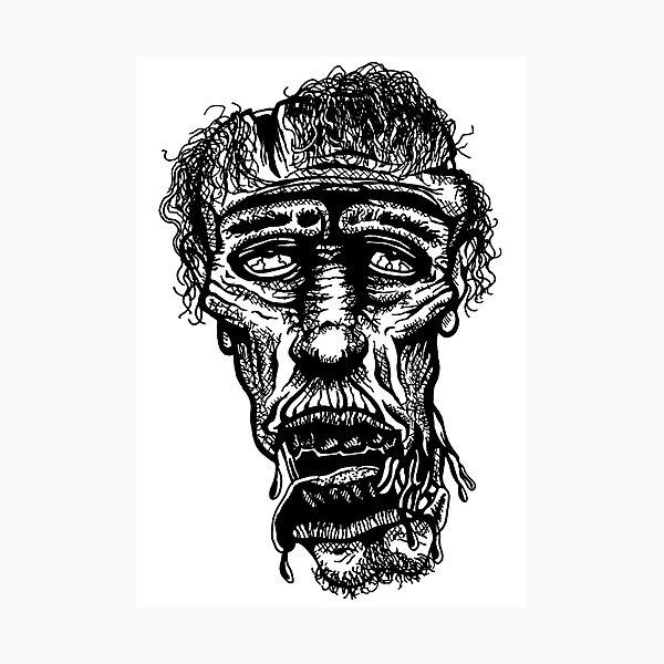 Slack-Jaw Zombie Photographic Print
