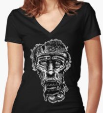Slack-Jaw Zombie Women's Fitted V-Neck T-Shirt