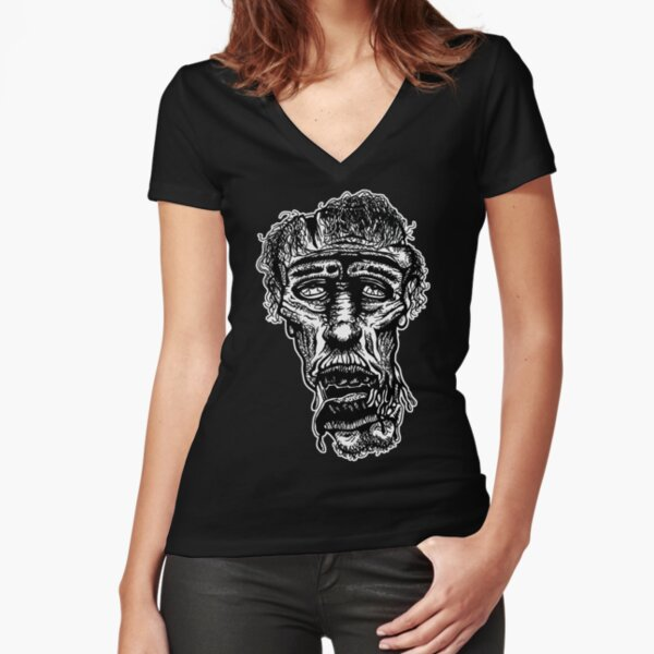 Slack-Jaw Zombie Fitted V-Neck T-Shirt