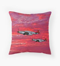"""Red Tails in the Sunset"" Throw Pillow"