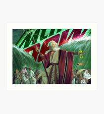 Moses Parting the Mountain Dew Art Print