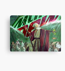 Moses Parting the Mountain Dew Metal Print
