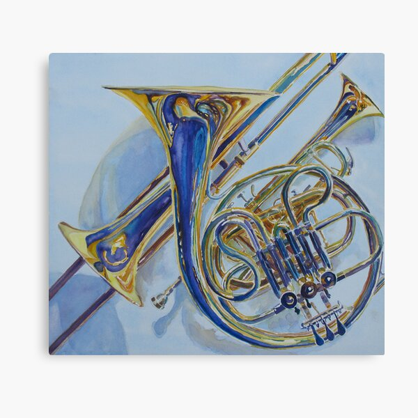 The Glow of Brass Canvas Print