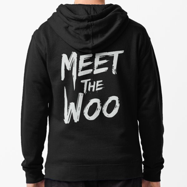 Meet the woo (printed on back) Zipped Hoodie