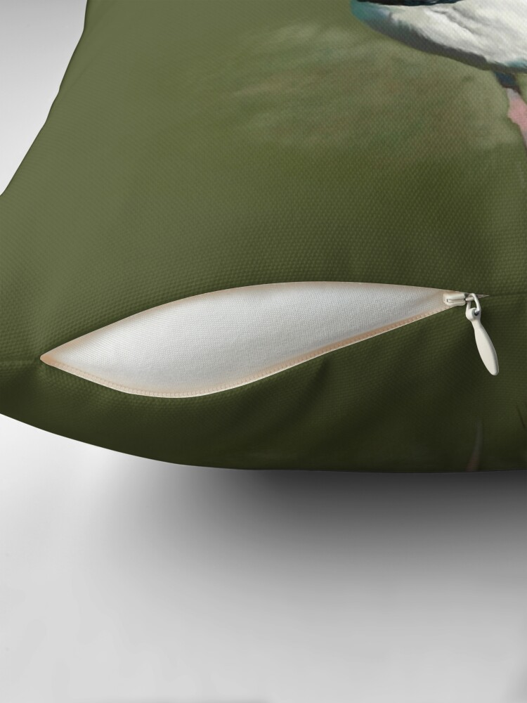 Alternate view of Northern Lapwing Study Throw Pillow
