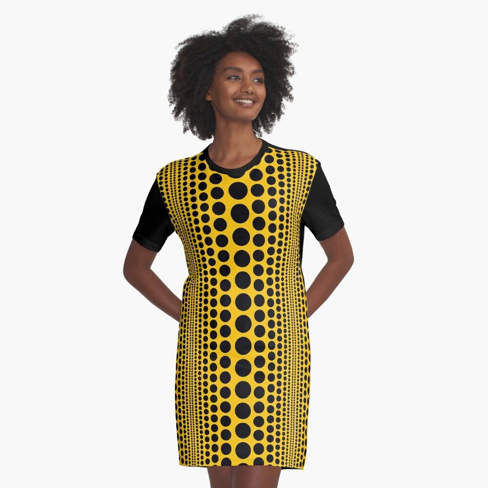 Infinity Polka Dots Graphic T-Shirt Dress