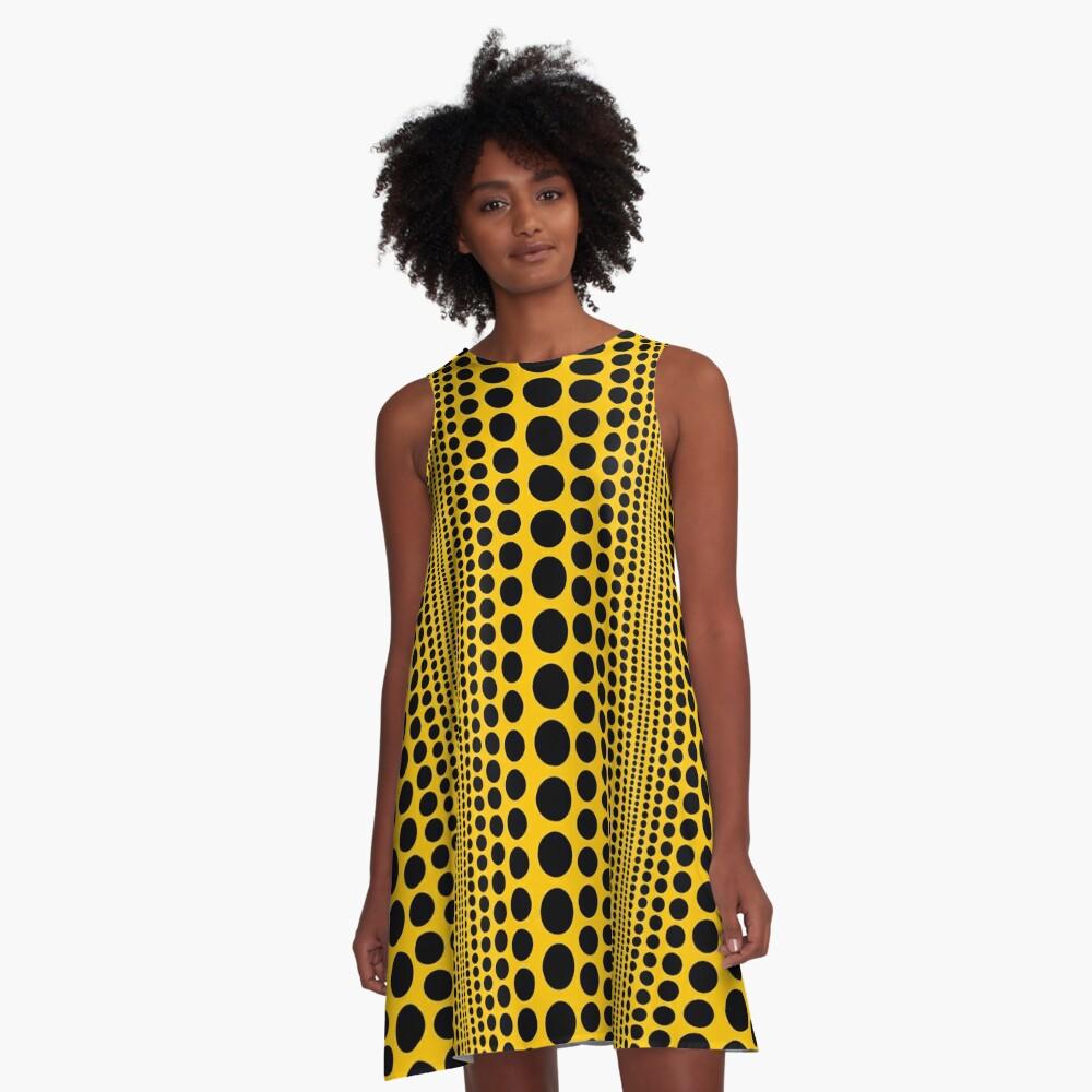 Infinity Polka Dots A-Line Dress