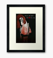Zombie Greeting Card Framed Print