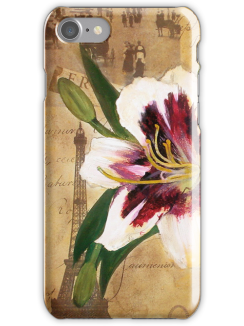 Lily of France iPhone Case by Carrie Jackson
