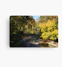 Stream early autumn-Parker, IN Canvas Print