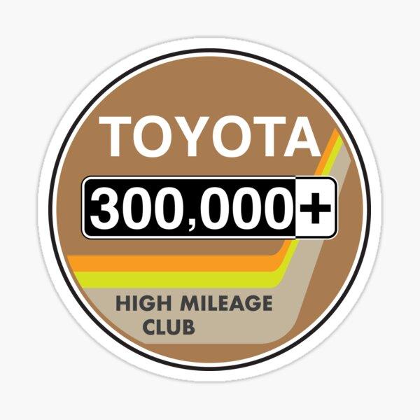Toyota High Mileage Club - 300,000+ Miles (2KB Version) Sticker
