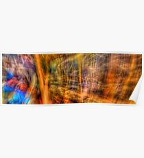 Comic Frenzy - Kinetic Abstract Poster