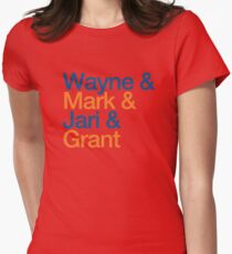 Wayne & Mark & Jari & Grant Womens Fitted T-Shirt