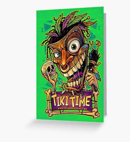 Tiki Time Greeting Card