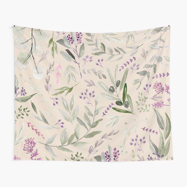Eucaliptus Pattern Pastel Blush Tela decorativa