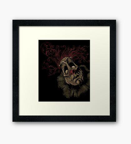 Dark Clown Framed Print