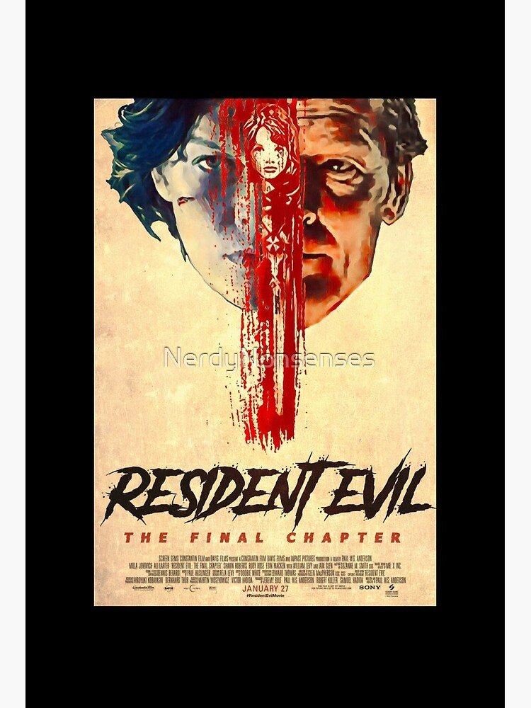 Resident Evil The Final Chapter Dr Isaacs Vs Alice Art Board