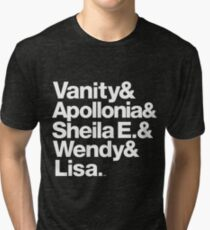 Prince Protégés Apollonia & Carmen Electra Helvetica Threads Tri-blend T-Shirt