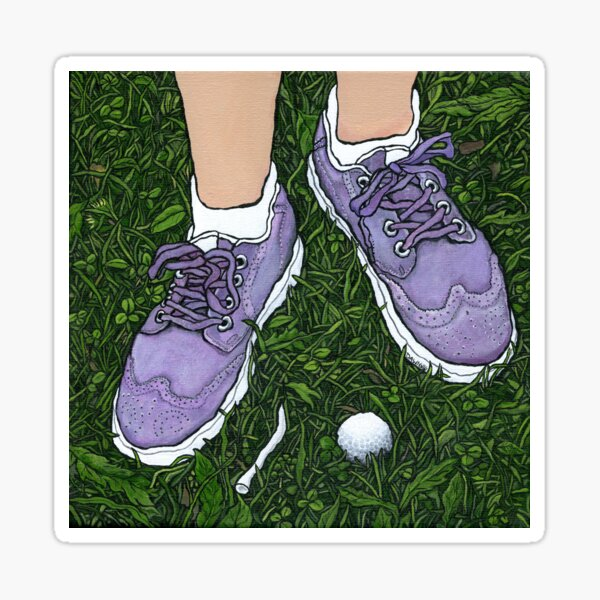 """""""Golf Shoes""""~Painting by Dawn Langstroth ©2020 Sticker"""