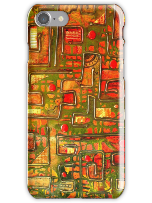 iphone case - textural abstract 002 by MelDavies