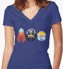 All Abeard! Women's Fitted V-Neck T-Shirt