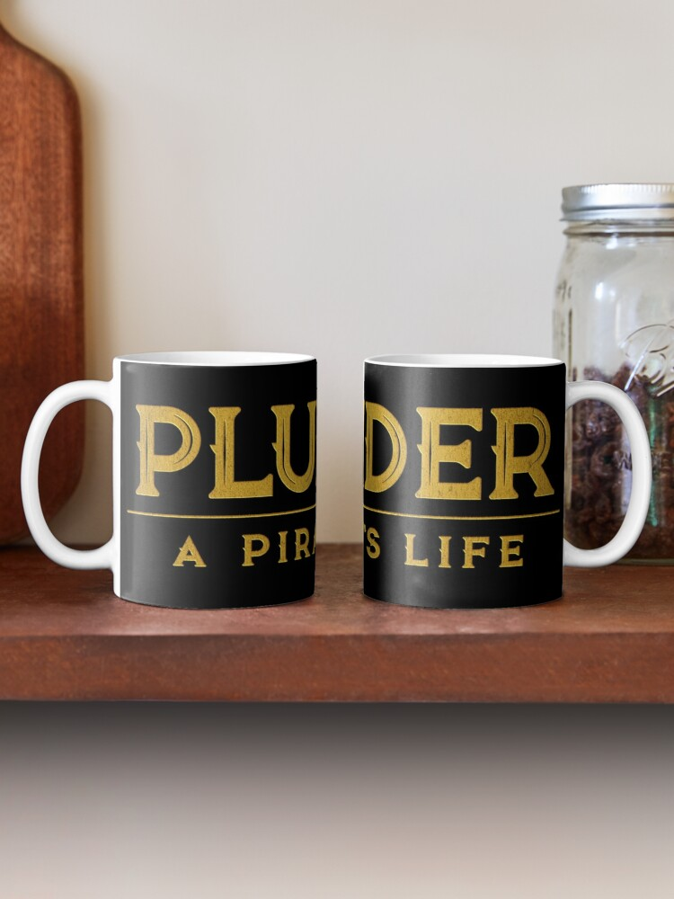 Alternate view of Plunder A Pirate's Life Board Game Logo Mug