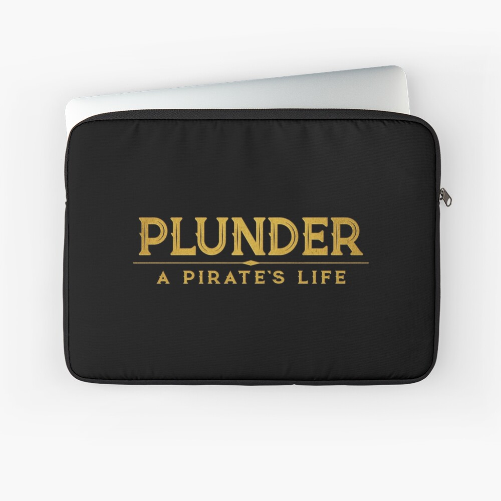 Plunder A Pirate's Life Board Game Logo Laptop Sleeve
