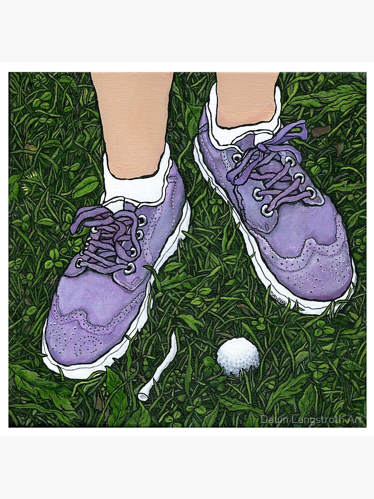 """Golf Shoes""~Painting by Dawn Langstroth ©2020 by dawnlangstroth"