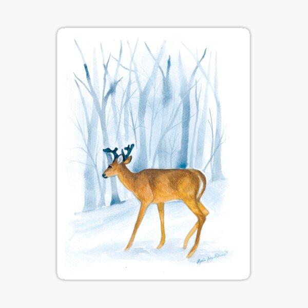 Stag in Winter Sticker
