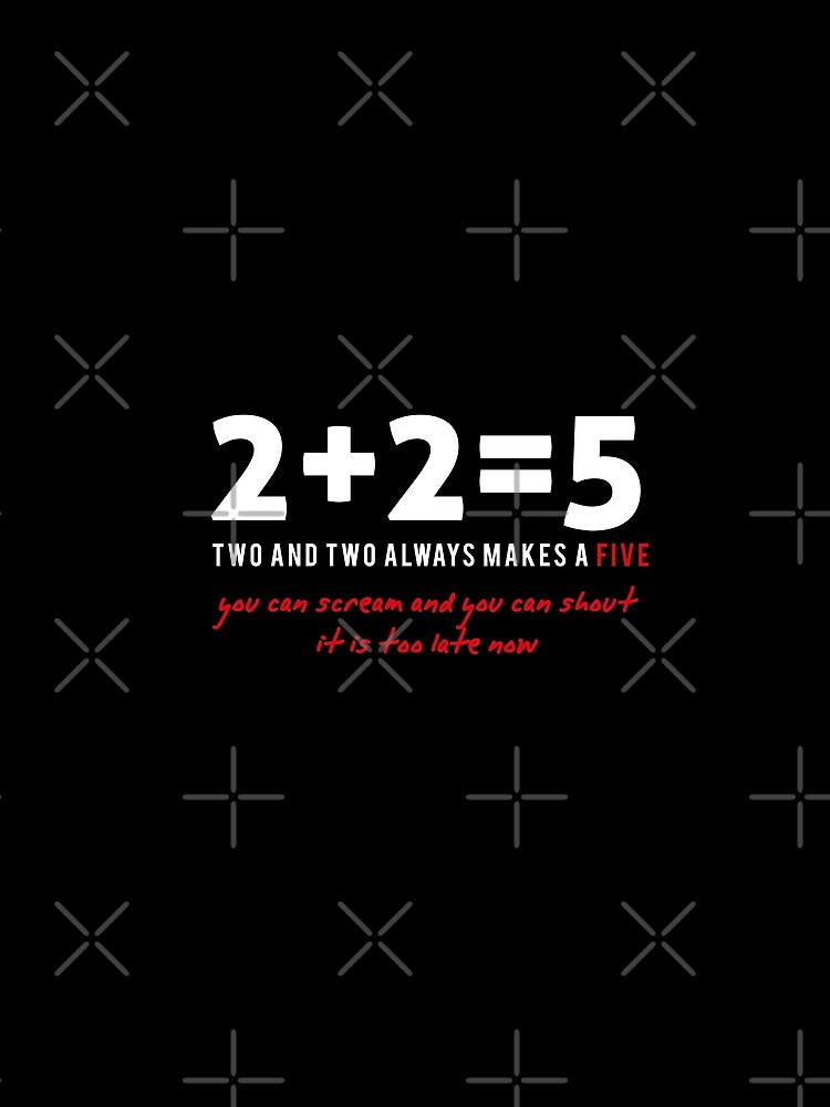 two plus two - two and two always makes a five  by mayerarts