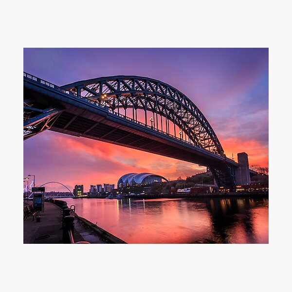 Tyne Bridge Sunrise Photographic Print