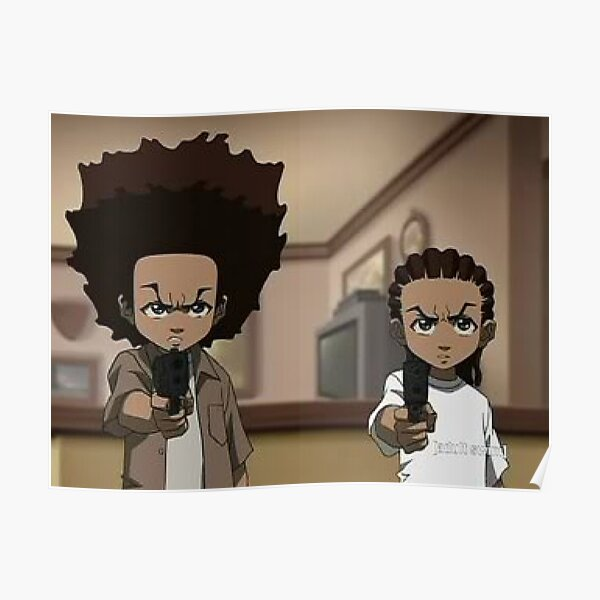 The Boondocks Huey, and Riley Poster