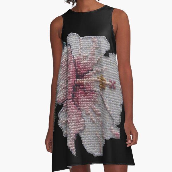 Pink Hibiscus A-Line Dress
