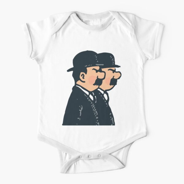 Tintin - Thomson twins Short Sleeve Baby One-Piece