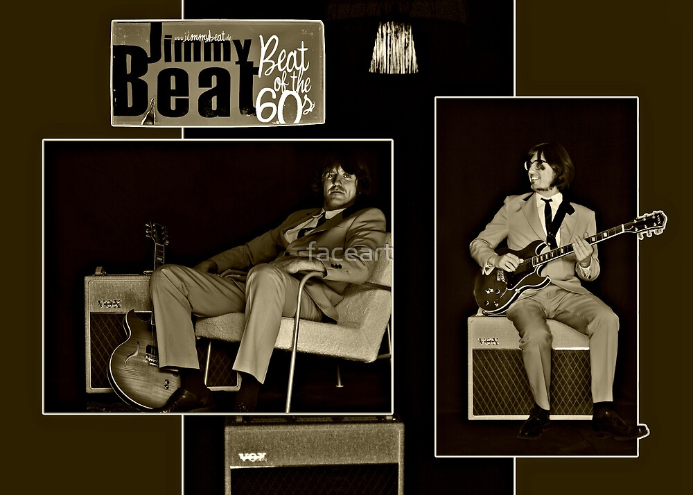 """Beat of the 60s with """"Jimmy Beat"""" by faceart"""