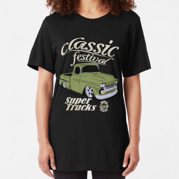 T-shirt-Hot Rod-Old School v8 Tuning Oldtimer muscle car Pick Up Camion S-XXL