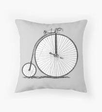 Bicycle Vintage High Wheeler Victorian Penny Farthing Cycle Biking		 Throw Pillow