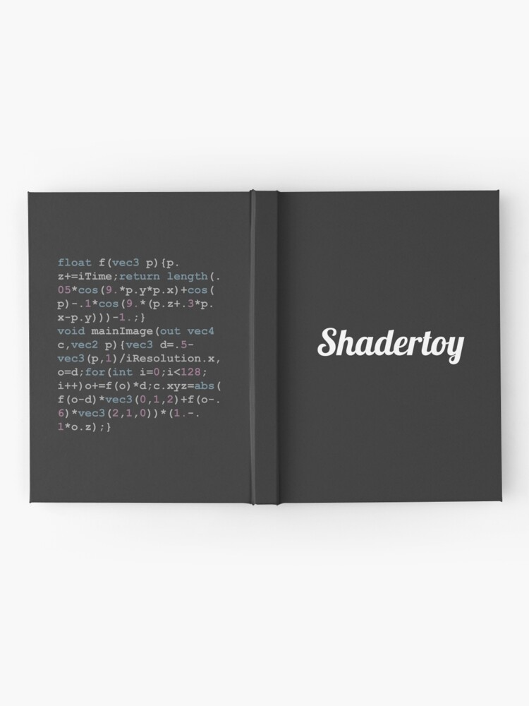 Alternate view of Shadertoy Size Coding Hardcover Journal