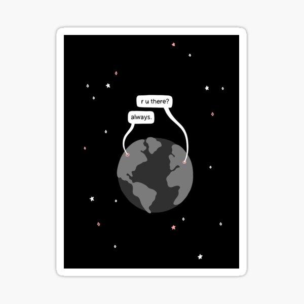 Cute Long Distance Space Sticker Sticker