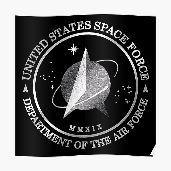 United States Space Force Silver Edition Poster