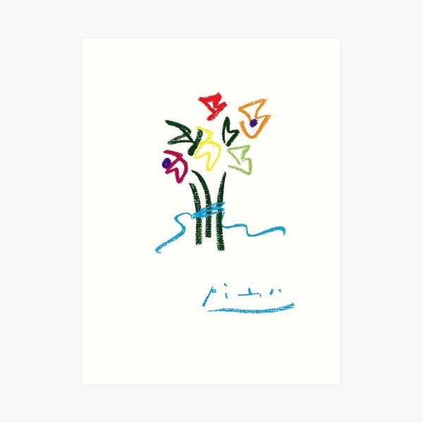 Fleurs du Soir (Night Flowers) by Pablo Picasso, Artwork for Wall Art, Prints, Posters, Tshirts, Women, Men, Kids Art Print