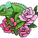 Chameleon with Roses by Morgan Carpenter