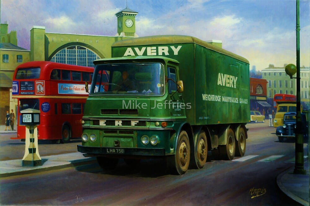 Avery's ERF eight-wheeler. by Mike Jeffries