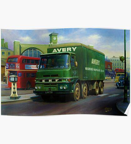 Avery's ERF eight-wheeler. Poster