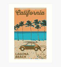 Laguna Beach - California. Art Print