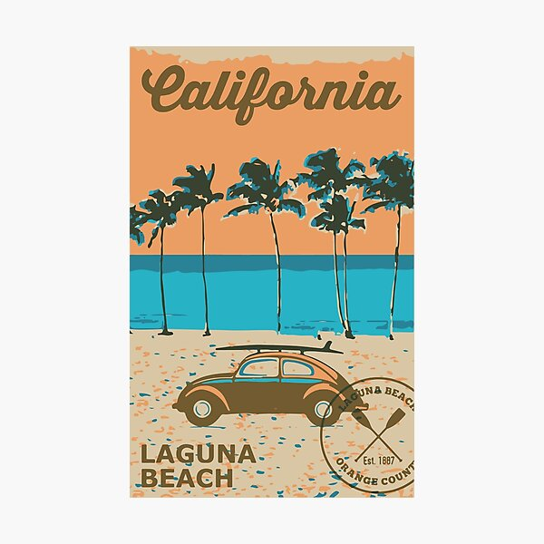 Laguna Beach - California. Photographic Print