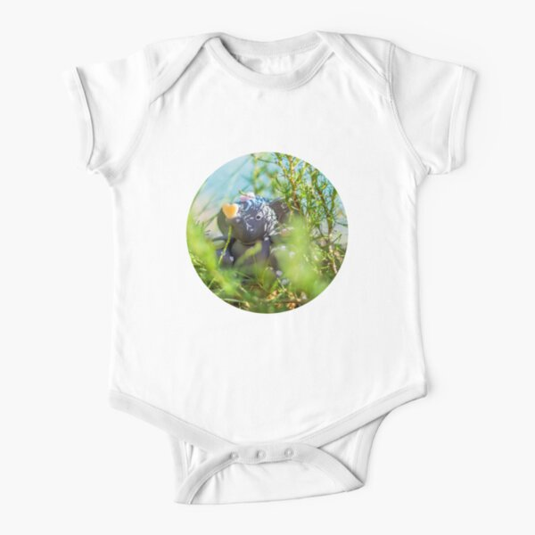 The elephant at the lake Short Sleeve Baby One-Piece