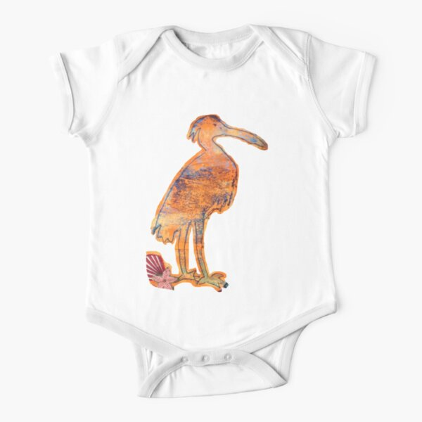 Seaside Bird Short Sleeve Baby One-Piece