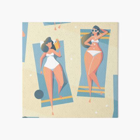 Beach day Art Board Print