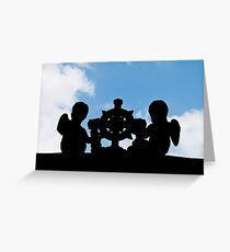 Angelic silhouette Greeting Card